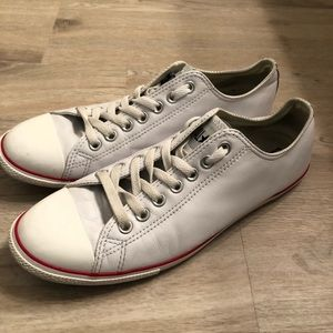 Converse All Stars Ox White Leather 9.5M